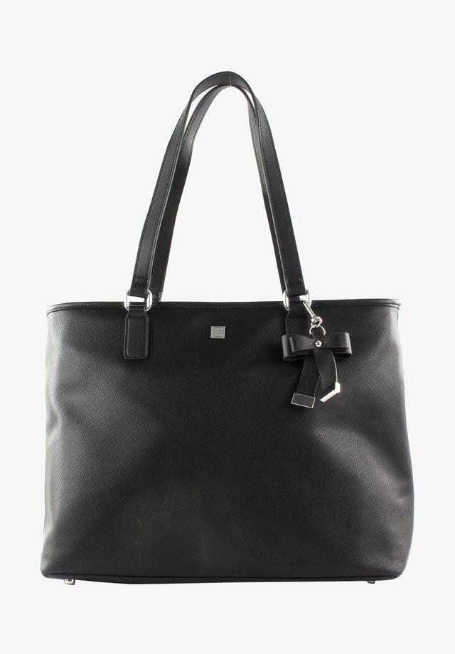 Across body bag - black / shiny silver