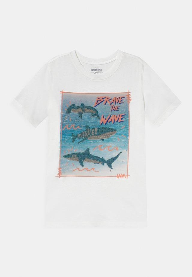 BOYS TEES TEENS - T-shirt imprimé - white