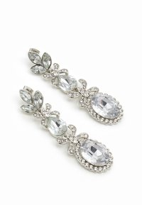 Pieces - PCJIDI EARRINGS - Kolczyki - silver-coloured/clear - 2