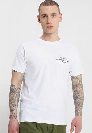 I'M SORRY TEE - Print T-shirt - white