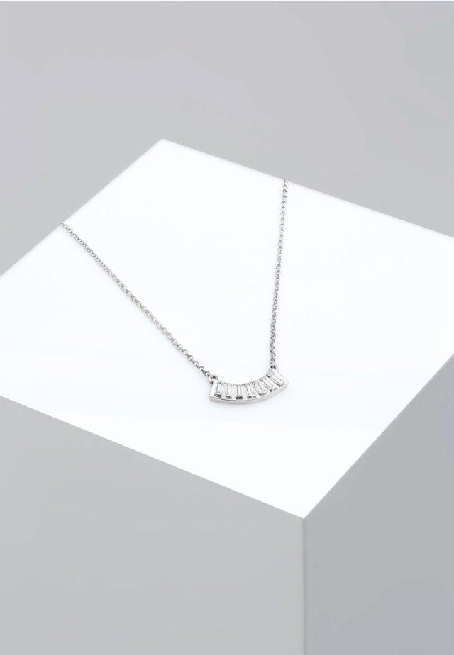 LAYER RECHTECK GEO TOPAS  - Náhrdelník - silver