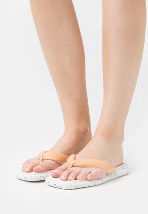 T-bar sandals - latte