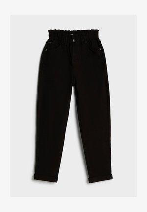 MIT ELASTISCHEM BUND  - Jeans Straight Leg - black