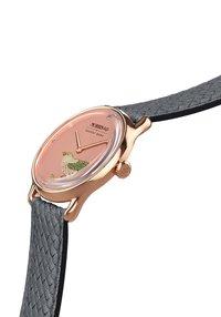August Berg - UHR MORRIS & CO ROSE GOLD BIRD GREY PERLON 30MM - Horloge - primrose - 2