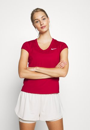 DRY - Jednoduché triko - gym red/white