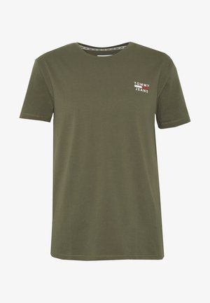 CHEST LOGO TEE - Print T-shirt - uniform olive