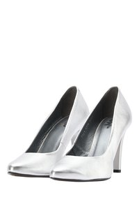myMo at night - High heels - silver metallic - 2