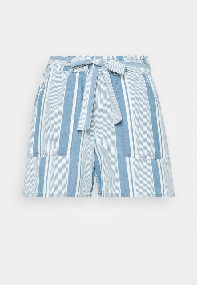 VMAKELA CHAMBRAY PAPERBAG - Shorts di jeans - light blue denim/white