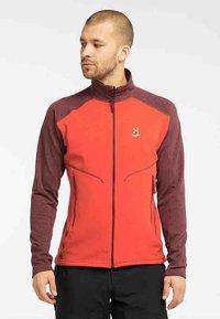 Haglöfs - HERON  - Fleece jacket - habanero/maroon red - 0