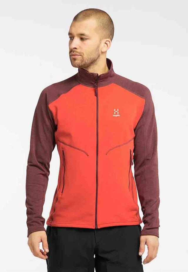 HERON  - Fleece jacket - habanero/maroon red