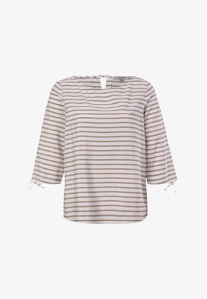 Camicetta - sand woven stripes