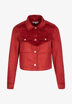 Faux leather jacket - dark red