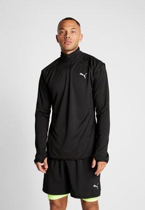 LAST LAP MIDLAYER - Long sleeved top - puma black heather