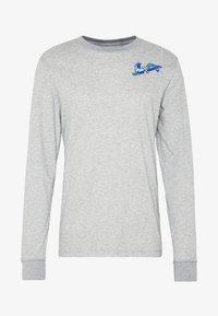 Nike Performance - DRY TEE HOOK - Bluzka z długim rękawem - dark grey heather - 5