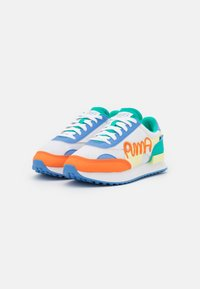 Puma - FUTURE RIDER UNISEX - Baskets basses - white/yellow pear/ultramarine - 1