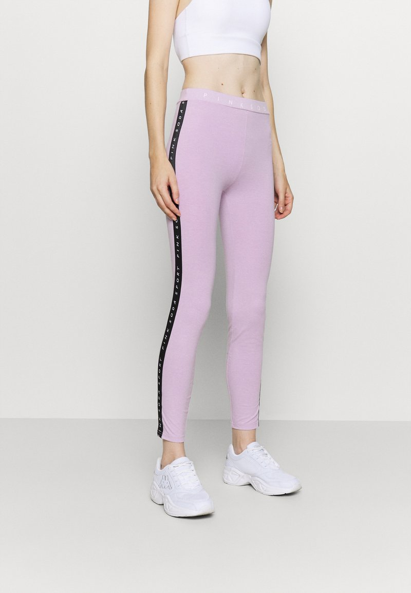 Pink Soda - CONGO TAPED - Leggings - lilac melange