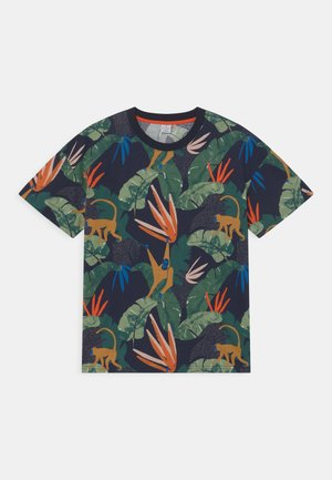 TROPICAL TEE - Print T-shirt - dark navy