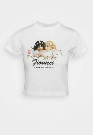 DAISY ANGELS SUPER CROP TEE - Print T-shirt - white