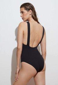 OYSHO - HALTERNECK - Swimsuit - black - 1