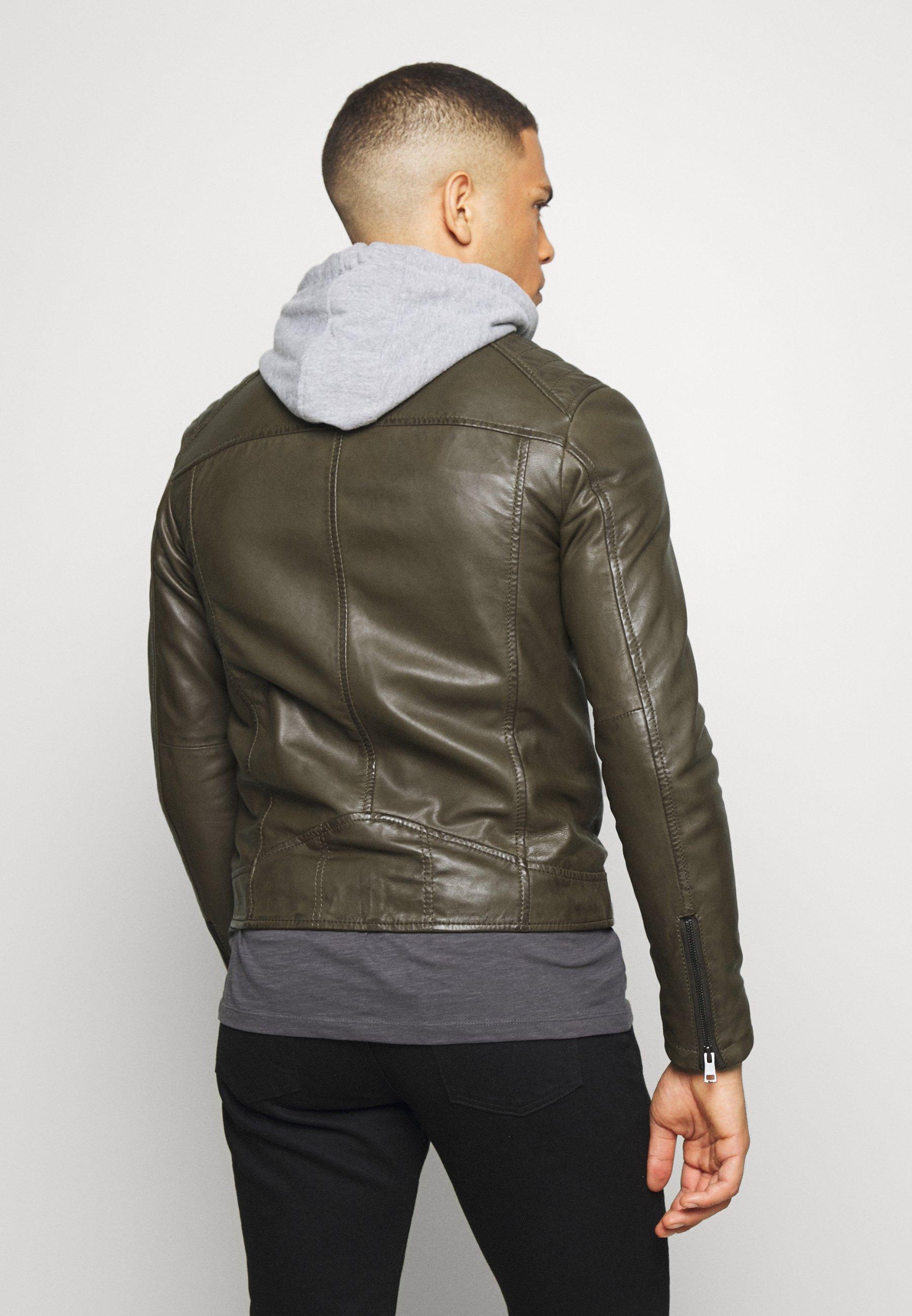 Serge Pariente SEAN - Veste en cuir - khaki