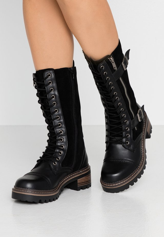 JESSAA - Lace-up boots - black