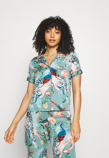 PAINTED PEACOCK - Pyjama top - mineral blue