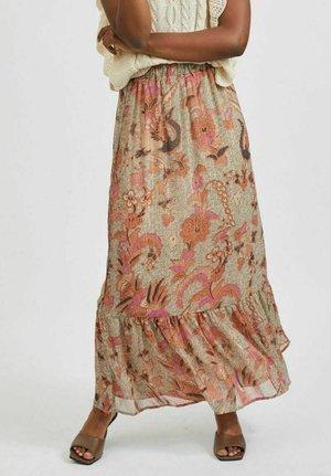 BLUMEN - Pleated skirt - sandshell
