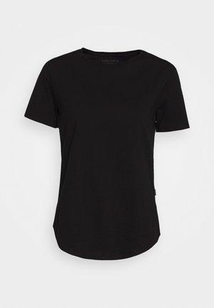 SADDLE HEM - Basic T-shirt - black