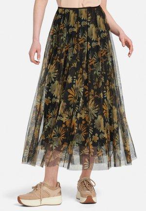 Pleated skirt - schwarz/multicolor