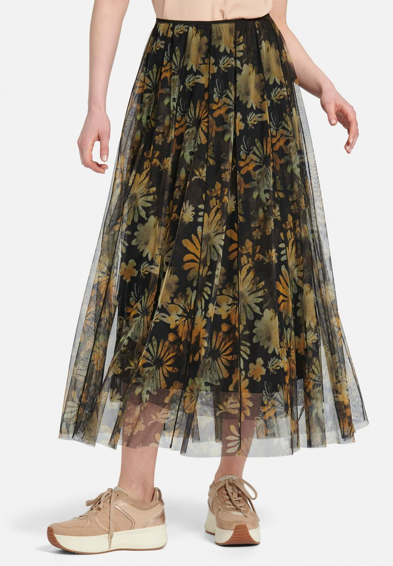 MARGITTES - Pleated skirt - schwarz/multicolor