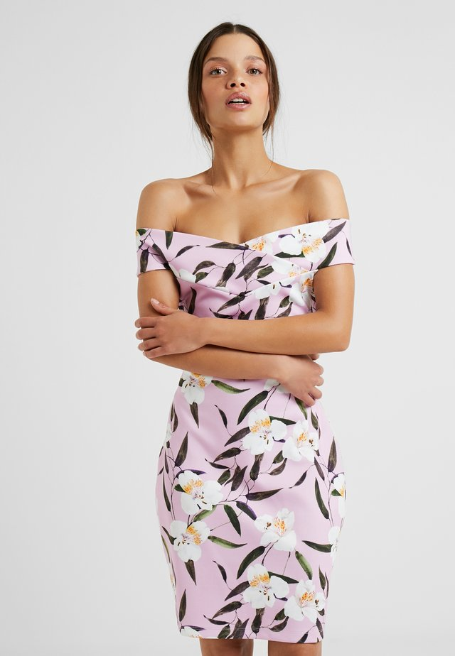Cocktail dress / Party dress - white/rose