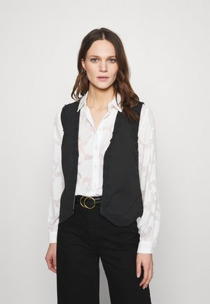 GILLIAN GILET - Waistcoat - beige/black/brown