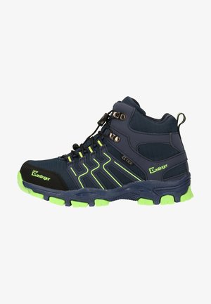 Alpin-/Bergstiefel - navy/lime