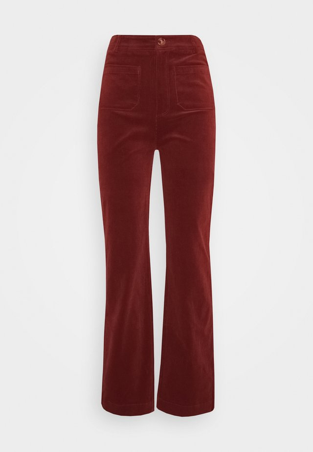 GARBO POCKET PANTS CORDUROY - Pantaloni - sandelwood brown