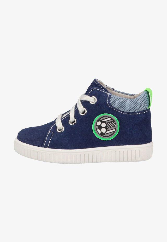 Sneakers hoog - nautical/sky/neon green
