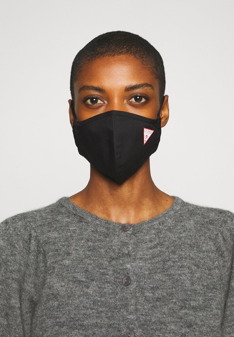 Guess - SINGLE FACEMASK UNISEX - Stoffen mondkapje - jet black