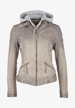 LAMOV - Leather jacket - light taupe