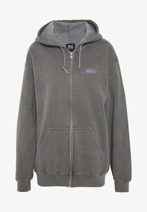 ZIP UP HOODIE - Bluza z kapturem - charcoal