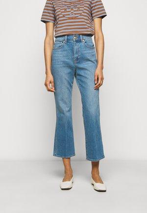 CROPPED BOOT MARBLE JEAN - Široké džíny - stone blue denim