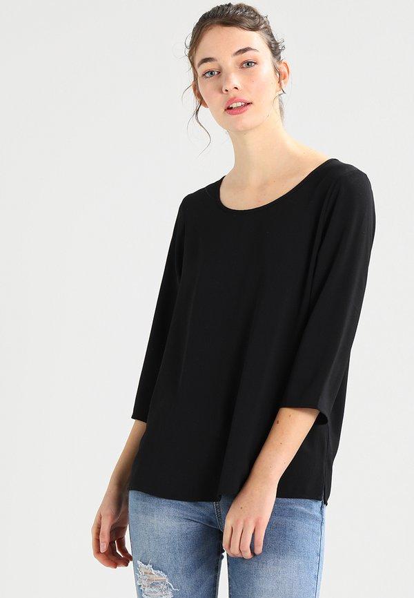 ONLY ONLVIC SOLID - Bluzka - black/czarny MMGY