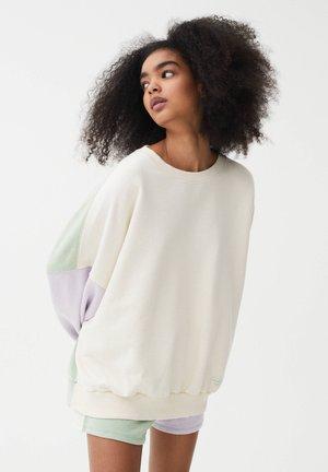 Sweatshirt - beige/green/mauve