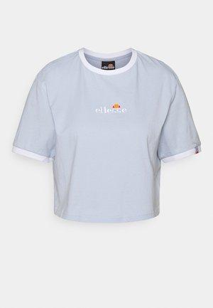 DERLA CROP - T-shirt basic - light blue