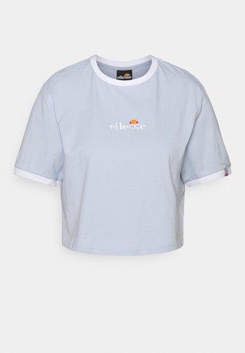 DERLA CROP - T-shirts basic - light blue