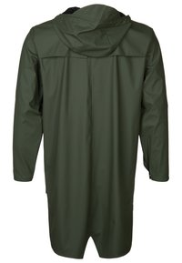 Rains - LONG JACKET UNISEX - Waterproof jacket - green - 1