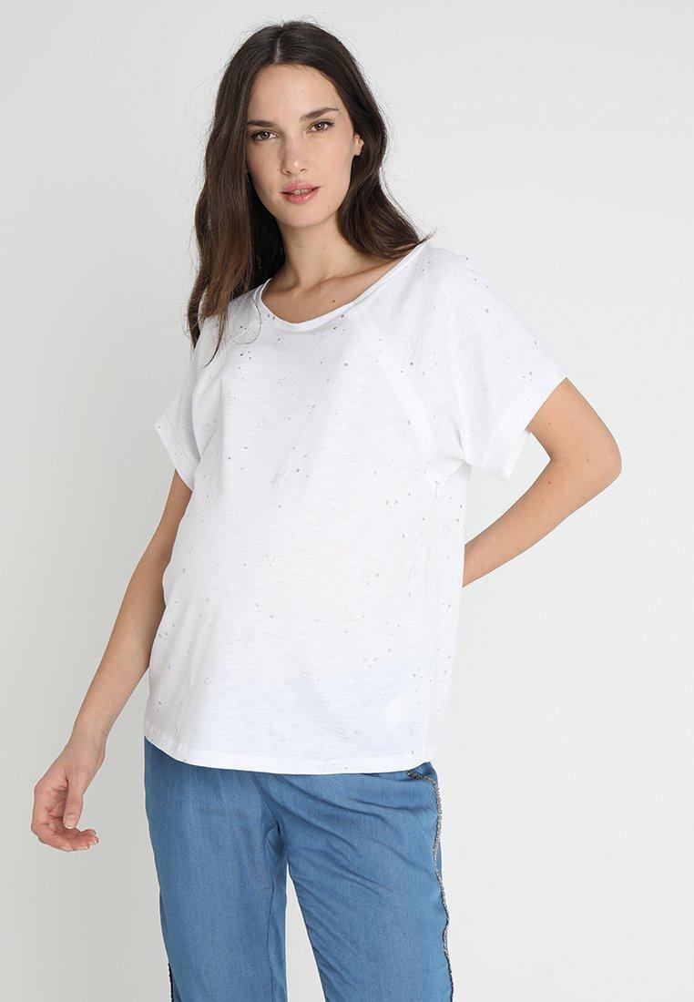 9Fashion - LUKKI - T-shirts med print - white