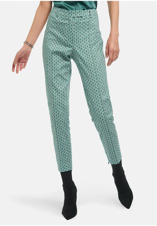 Pantaloni - smaragd/multicolor