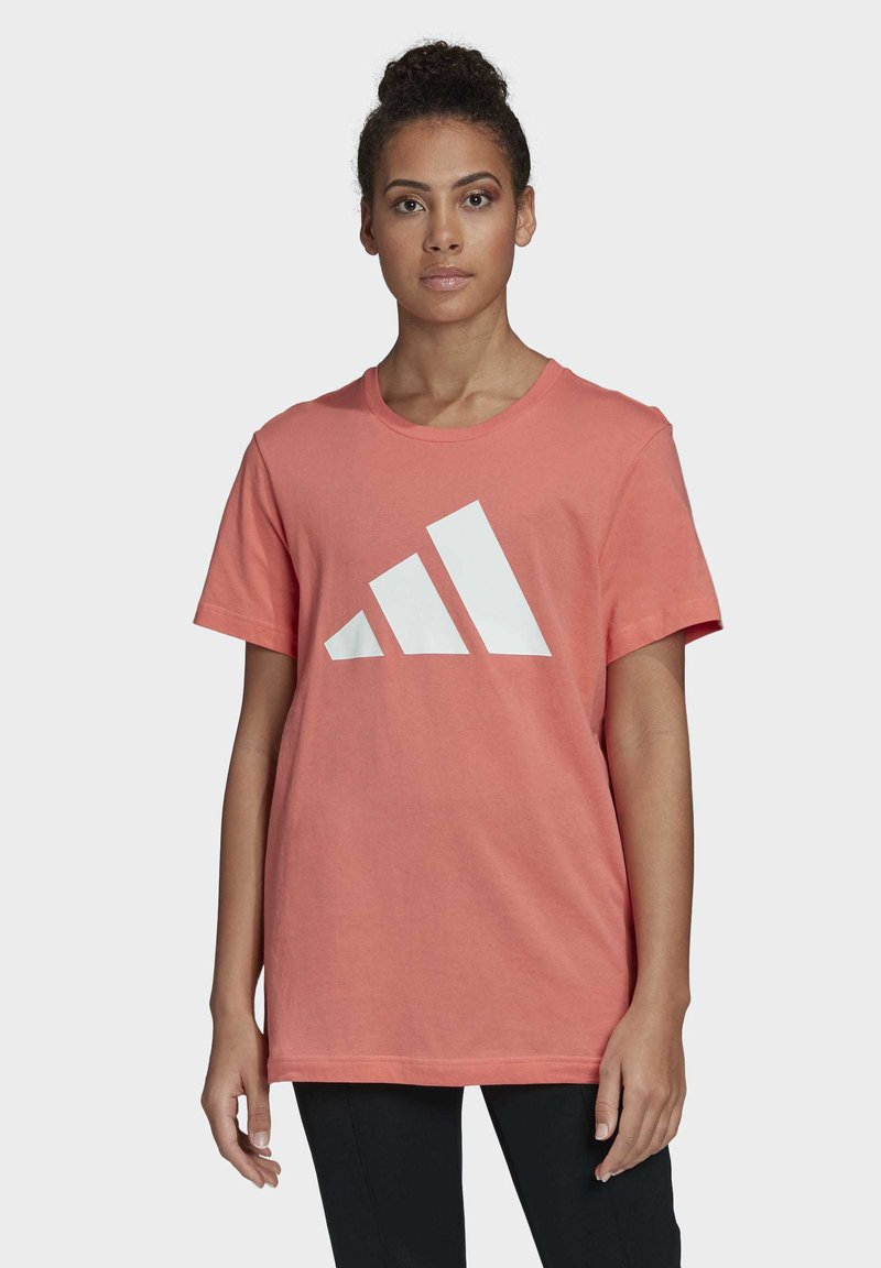 adidas Performance - LOGO T-SHIRT - Print T-shirt - red