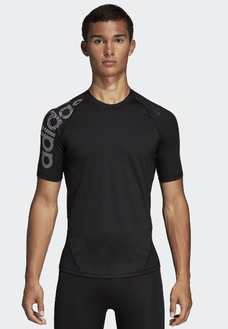 adidas Performance - ALPHASKIN BADGE OF SPORT TEE - T-shirt z nadrukiem - black