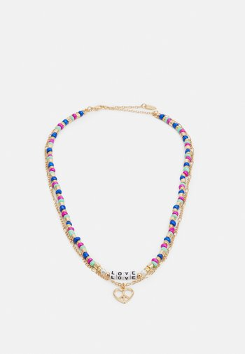 LOVE BEADED TWO ROW NECKLACE - Necklace - gold-coloured