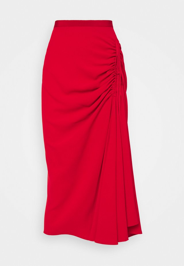 RUCHED SKIRT - Bleistiftrock - rosso